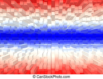 Square flag - Square shape color flag of Thailand Abstract...