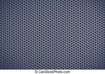Dark blue Metal Background with Holes. Metal Grid.