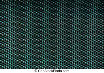 Dark green Metal Background with Holes Metal Grid - Dark...