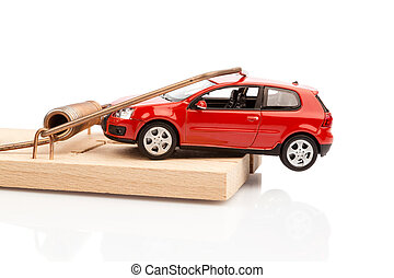 model car in a mousetrap - a model car in a mousetrap,...