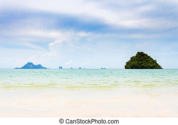ao nopparat thara landscape of sea beach at krabi thailand
