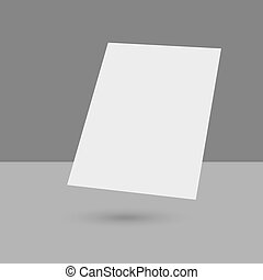 Hovering Blank empty magazine or book or booklet, brochure,...