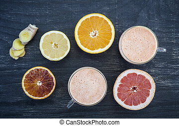Citrus smoothies