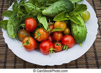 Fresh garden vegetables