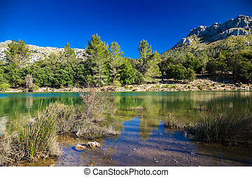 Panta de Gorg Blau, Mallorca - the scenic beautiful mountain...