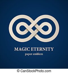 abstract magic eternity paper emblem - illustration for the...