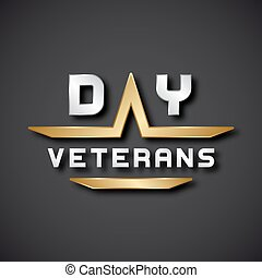 EPS10 veterans day text icon - illustration for the web