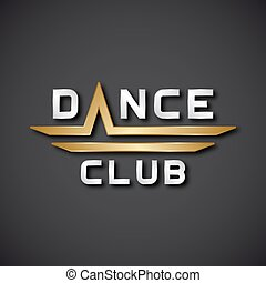EPS10  dance club text icon - illustration for the web