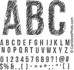 pencil font