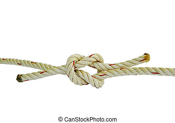 Tied rope together and tie a knot