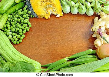 saudável, legumes, fundo