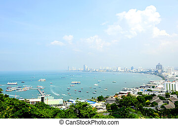 Pattaya - Viewpoint Pattaya overlooking the panoramic view...