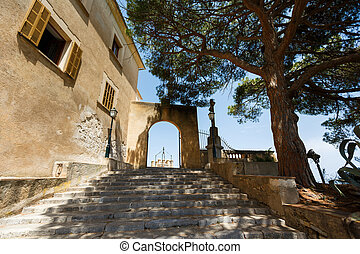 Entrance to Sanctuary de Sant Salvador, Mallorca - Entrance...