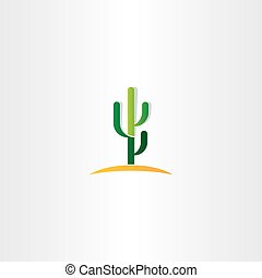 cactus in desert vector icon
