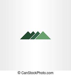 green sign mountain logo icon element symbol