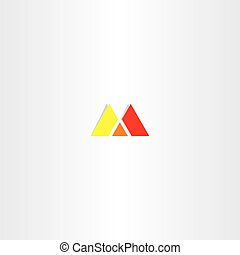 red yellow letter m logo sign emblem design