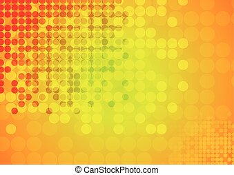 Bright circles abstract technical background