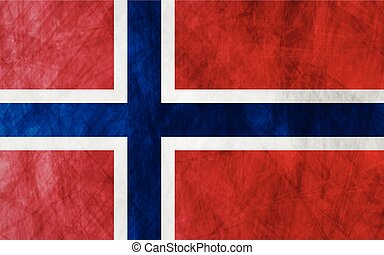 Grunge flag Norway