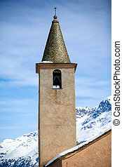 The Church of Sils in Engadin, Switzerland