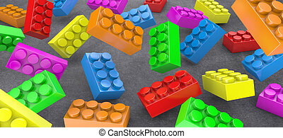 Constructor - Many colours constructor chaotically flying in...