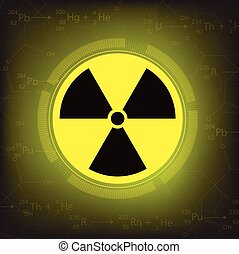 radiation warning symbol vector