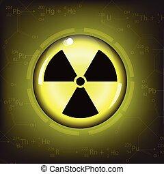radiation warning symbol - nuclear radiation warning symbol...