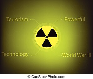 radiation warning symbol - nuclear radiation warning symbol...