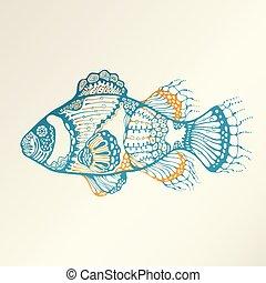 tropical, Extracto, pez