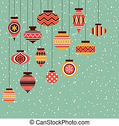 christmas ornament balls background