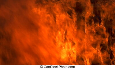 Inferno fire abstract background texture