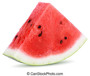 Slices of watermelon isolated on white background
