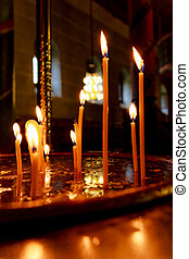Candles in a church