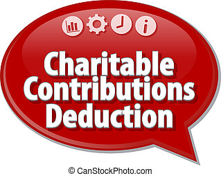 Charitable Contributions Deduction Business term speech...