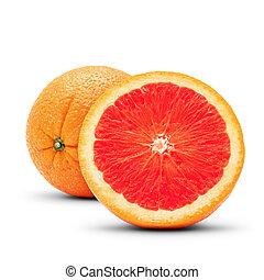 Perfect grapefruit Isolated on white background