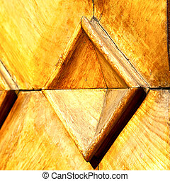busto arsizio abstract door curch closed wood italy lombardy...