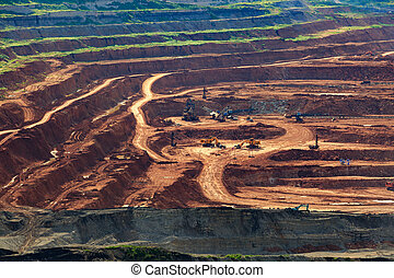 coalmine Lignite for electricity production lampang thailand...