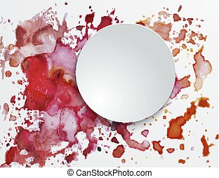 watercolor background with spots