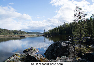 Lake in Lapland, Finland - Picture of a lake in Lapland,...