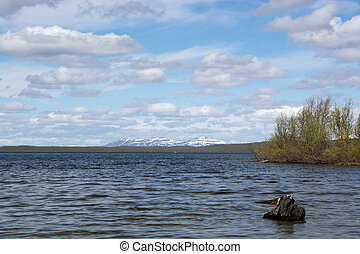 Lake in Lapland, Finland - Photo of a lake in Lapland, north...