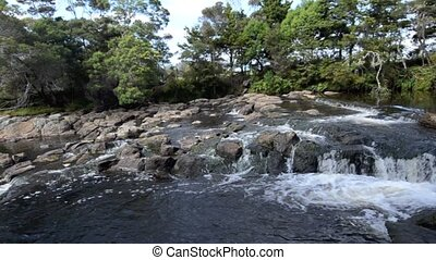 Kerikeri Waterfalls Nature Reserve, Northland, New Zealand -...