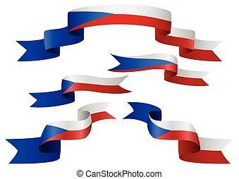 Czech Republic Ribbon - Set of Czech Republic insignia in...