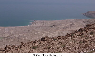 landscape of the Dead Sea Israel - Aerial view landscape of...