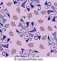 floral fantasy pink pattern