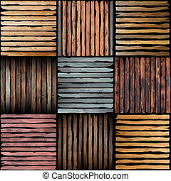 wooden plank pieces