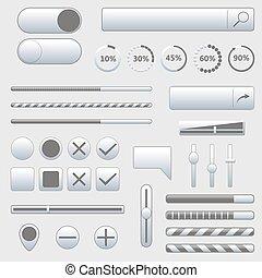 Set of web elements, vector