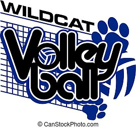 wildcat volleyball - wildcat team volleyball design with paw...