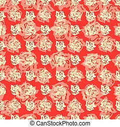 roses on a red background abstract vector illustration wallpaper