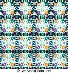 Abstract colorful seamless vector background pattern