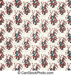 abstract objects with hearts on a light background seamless vector pattern wallpaper