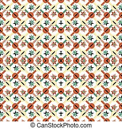 colored geometric objects on a light background seamless vector pattern wallpaper
